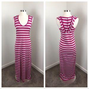Derek Heart striped hooded maxi dress